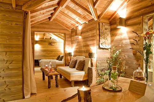 Location de chambres d 39 h tes dans les arbres cabane spa - Chambre d hote couleur bois et spa ...